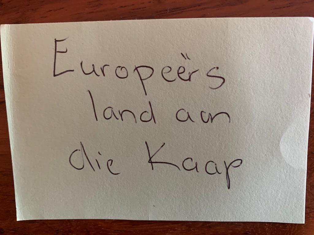 europeers land aan die kaap