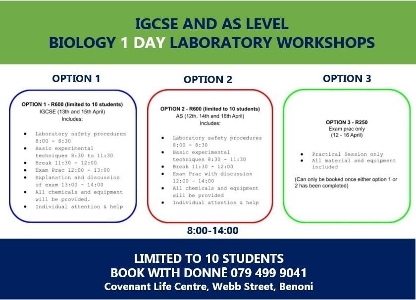 biology workshops
